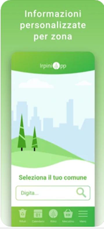 IrpiniApp, gestione smart dei rifiuti